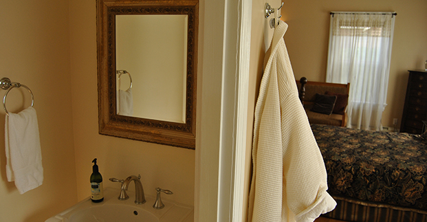 Private bathroom and comfy robes in each suite.